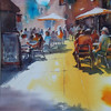 Street Cafe - by Heather Withers